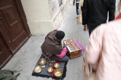 Musiker in der Fussgängerzone