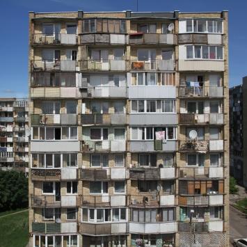 Sozialbau in einer Vorstadt