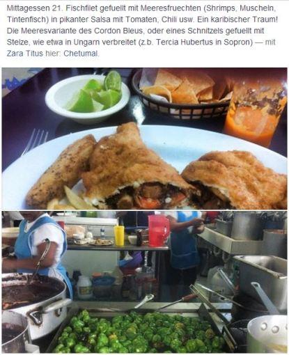 Tag 20, Gefüllt mit Meeresfrüchten, Chetumal
