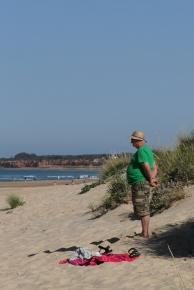 Am Strand zum Atlantik