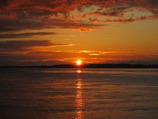 Sonnenuntergang am Rio Napo