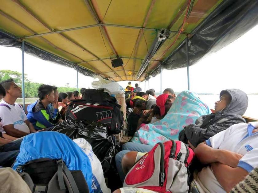 Kanu zur Grenze Ecuador / Peru
