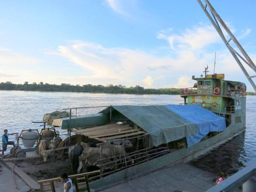 Walter Junior - Das Frachtschiff für die Reise über den Rio Napo