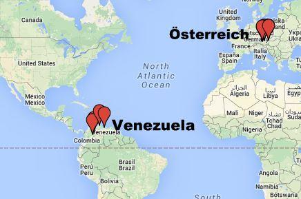 Alle Schauplätze Maps - Der Geist des Hugo Chávez. Venezuela.
