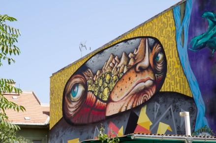 Streetart in der Biergarten in der Kazinczy utca