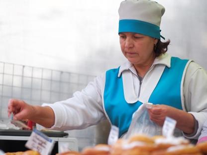 Backwarenverkäuferin Markt Chișinău