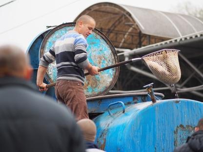 Fischverkäufer Markt Chișinău